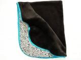 Zvětšit fotografii - Oboustranná deka tyrkysový lem