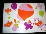 Zvětšit fotografii - Babymoov-Samolepící dekorace 15kusů - Let balonem