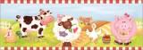 Zvětšit fotografii - Samolepící bordura na zeď Farma 3ks, 48x15,50 cm