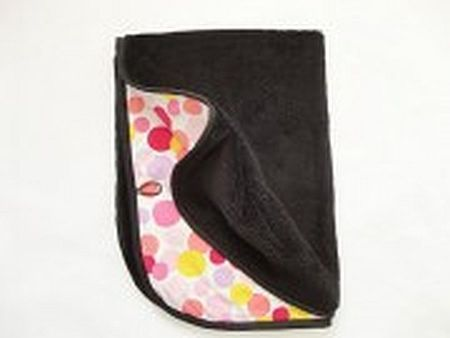 Oboustranná deka 70x90 cm - černá /barevná kolečka MeeMee