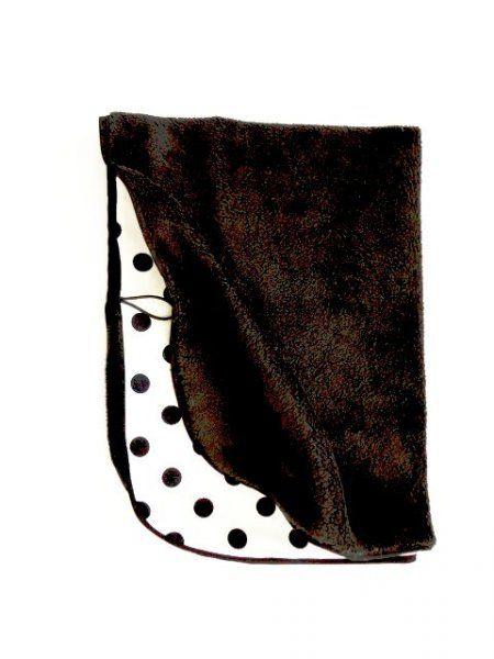 Oboustranná deka 70x90 cm - černá/černobílý puntík MeeMee
