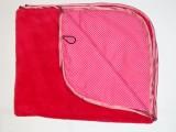 Oboustranná deka 70x90 cm - malinová/ růžová mikropuntík MeeMee