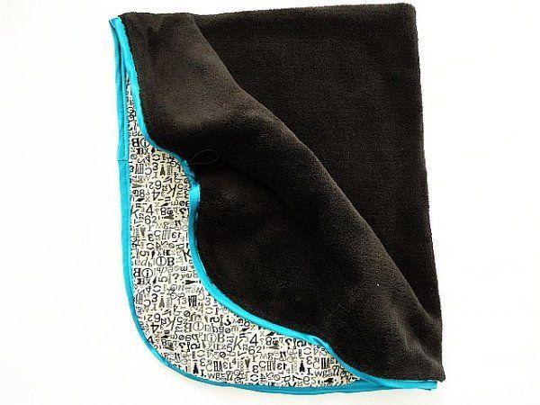 Oboustranná deka tyrkysový lem MeeMee