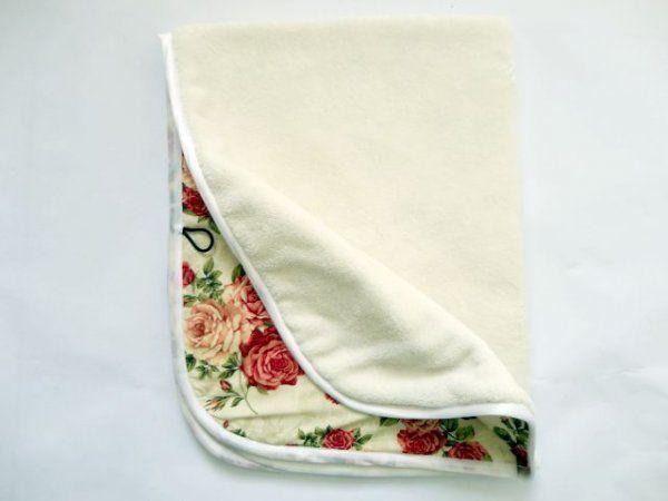 Oboustranná deka z limitované kolekce Růže - smetanová MeeMee