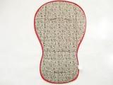 Oboustranná podložka do kočárku písmo/červená MeeMee