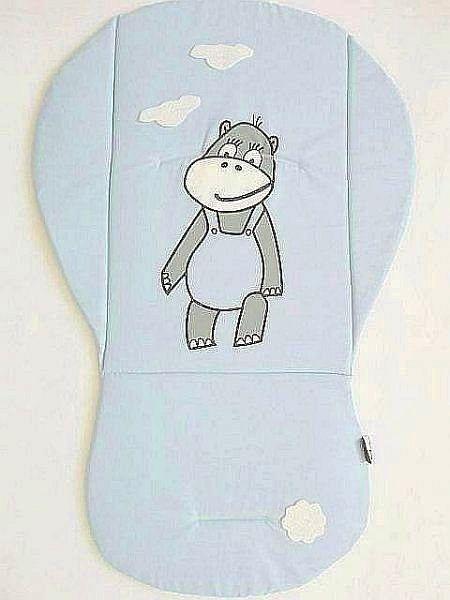 Podložka do kočárku HIPPO- světle modrá s obláčky MeeMee