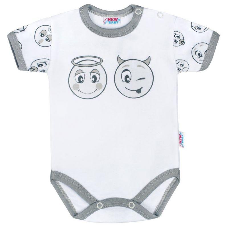 Kojenecké bavlněné body s krátkým rukávem New Baby Emotions vel.56
