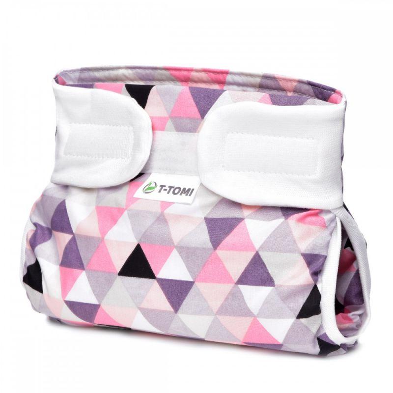 Ortopedické abdukční kalhotky, pink triangles (3-6kg) T-tomi