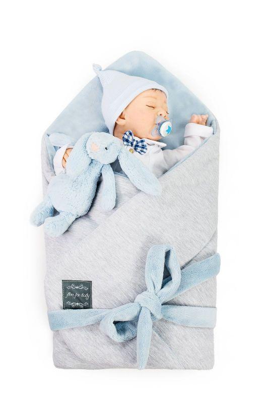 Floo for baby zavinovačka modrá
