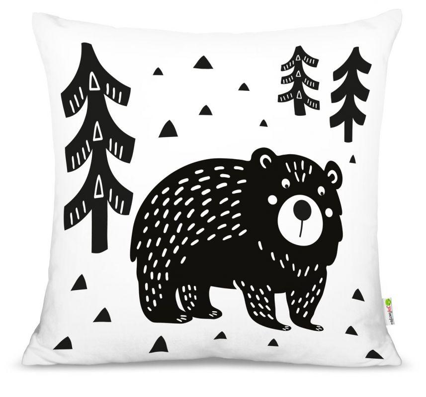 Polštář Medvěd v lese Mint Kitten