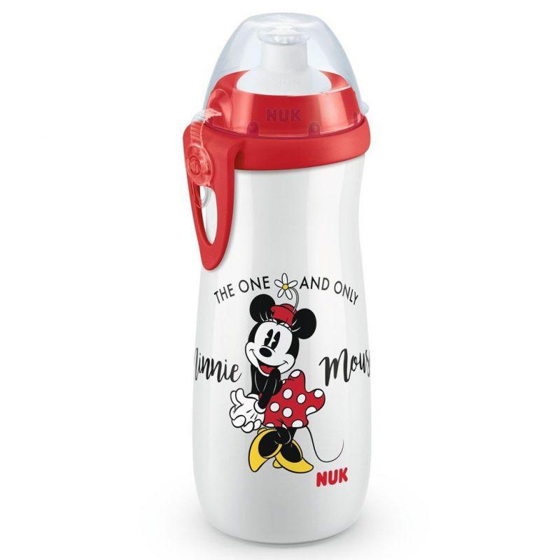 Dětská láhev NUK Sports Cup Disney Minnie 450 ml red