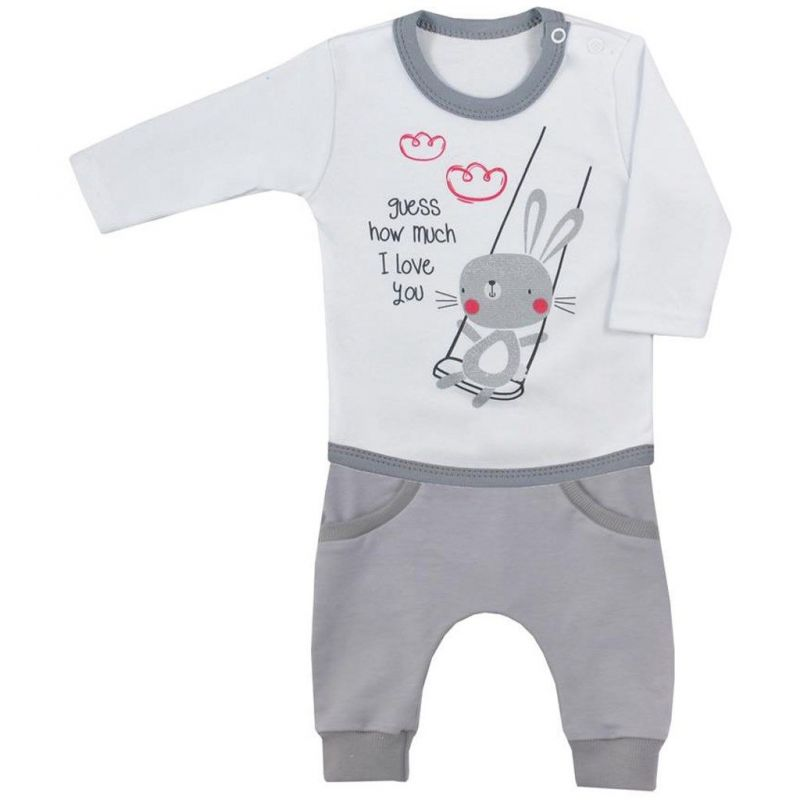 2-dílná kojenecká souprava Koala Swing bílá vel.62 New Baby