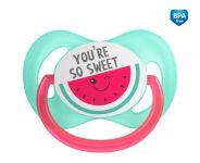 Canpol babies Dudlík symetrický So Cool 0-6 m - růžový