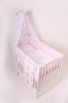 Povlečení do postýlky LittleUp Lux My Little Baby Pink - 3 díly