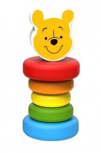 Dřevěná hračka Disney, Medvídek Pú, 5 x 5 x 12 cm