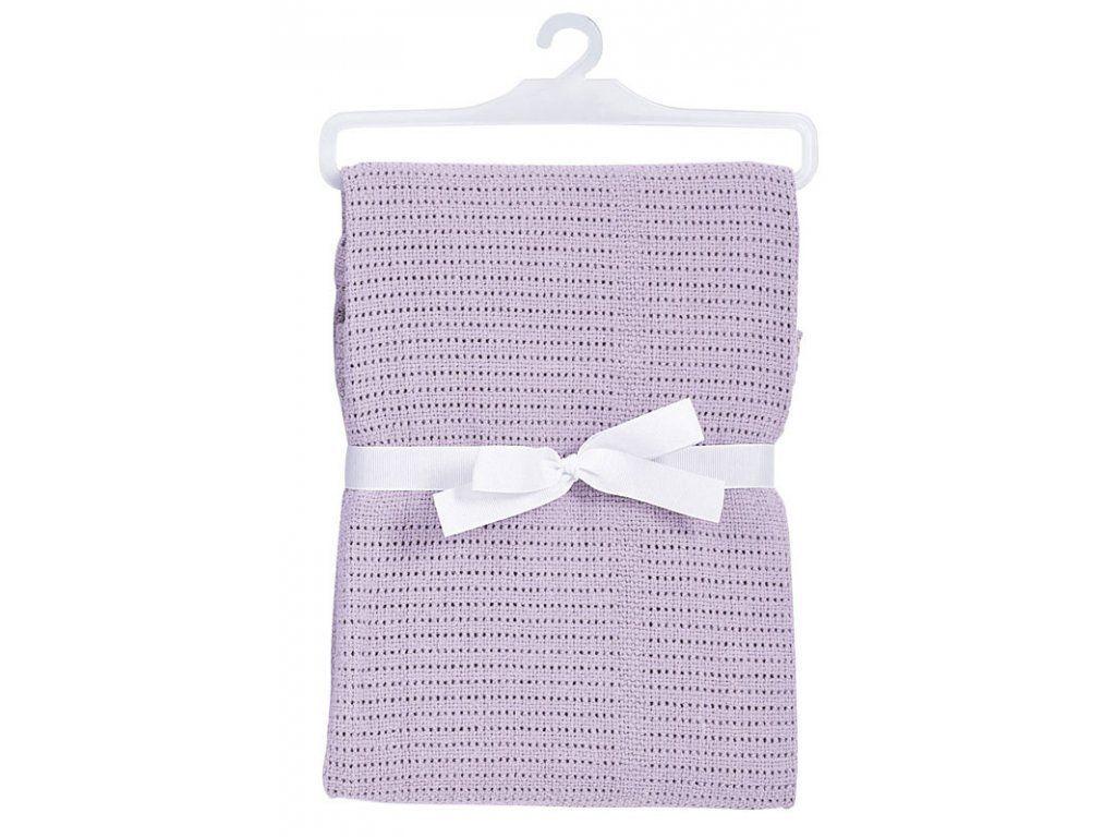 Baby Dan Dětská háčkovaná bavlněná deka Lila BabyDan