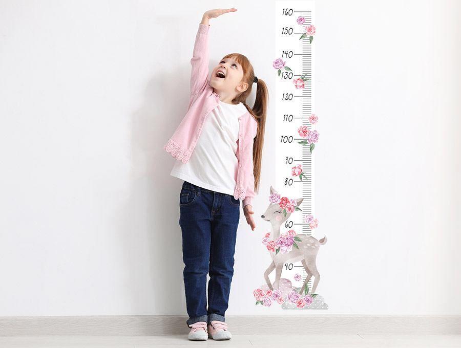 Měřítko vzrůstu srnka - růžová Pastelovelove