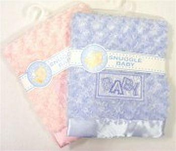 Plyšová deka BABY světle modrá