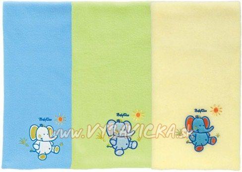 BabyOno - Deka Polar Fleece limetková- se slonem