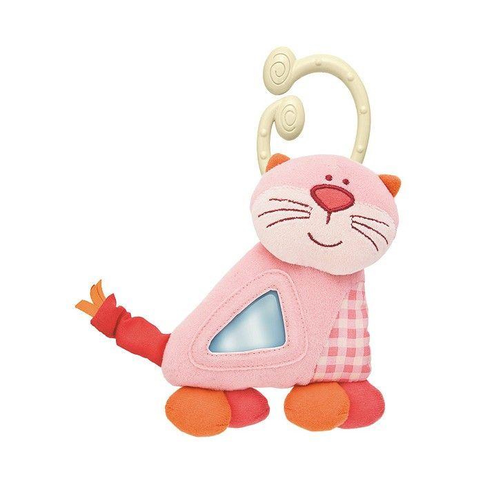 CHICCO - Kousátko textilní kočička