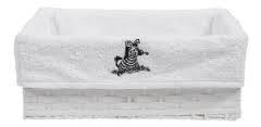 Košík na koj.potřeby Zebra bílý Bébéjou