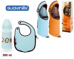 Suavinex Motion láhev + termobryndáček 280ml oranžová/hnědá