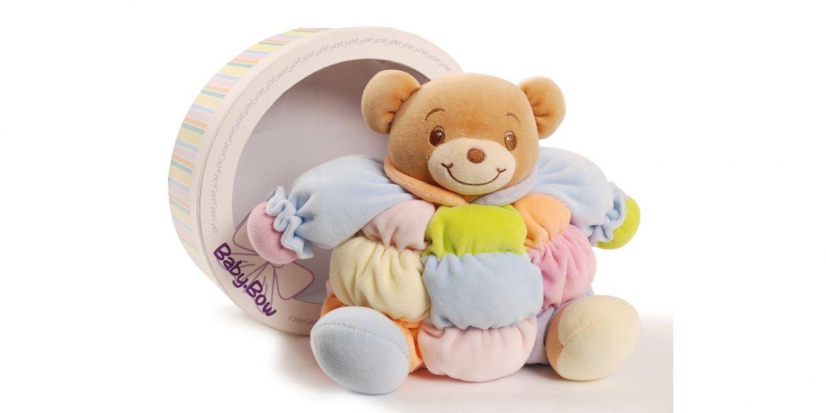 Baby Bow - Barevný medvídek chrastící