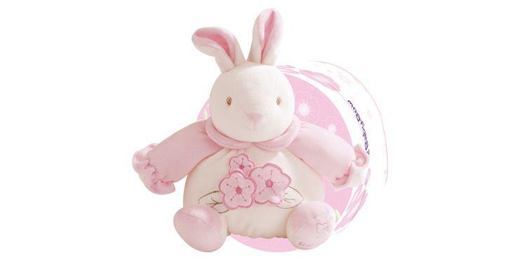 Baby Bow - Růžový zajíček chrastící