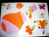 Babymoov-Samolepící dekorace 15kusů - Let balonem