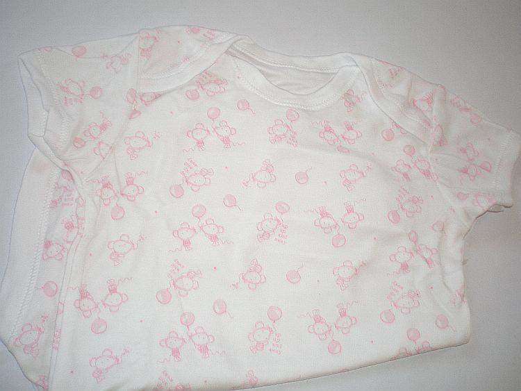 Body růžové myšky - vel. 12/18 měs.