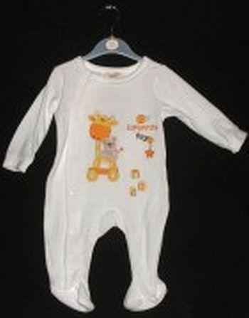 Dětský overal sametový se žirafkou > 3-6 měs.