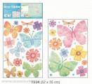 Pokojová dekorace motýli a květy 2 archy > 52x35cm