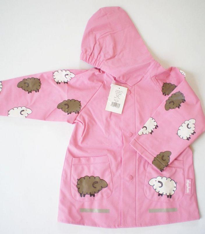 Růžová pláštěnka ovečka- vel.140 Playshoes