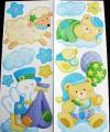 Samolepicí dekorace - S čápem a medvídky