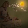Dětské světlo se samolepkou na zeď- Slon bílý BabyZoo
