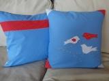 Sada dvou povlaků na polštářky s ptáčky