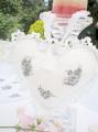 Slavnostní bílá - srdíčko na zavěšení