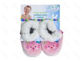 Honney Bunny Dětské plyšové bačkůrky růžové