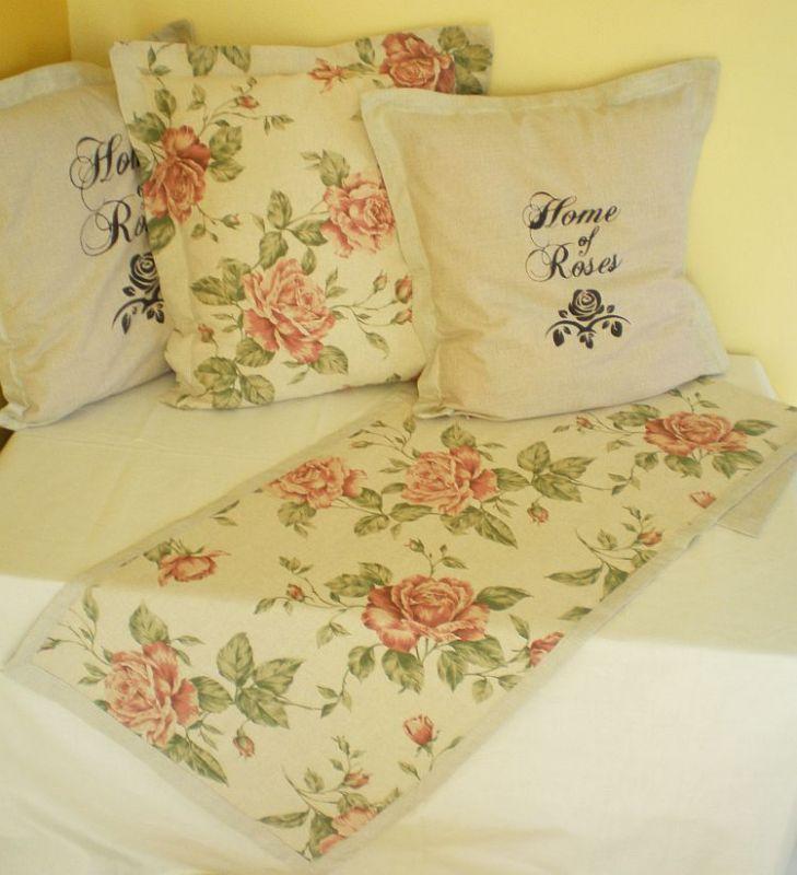 Režný povlak na polštářek - Růže MeeMee