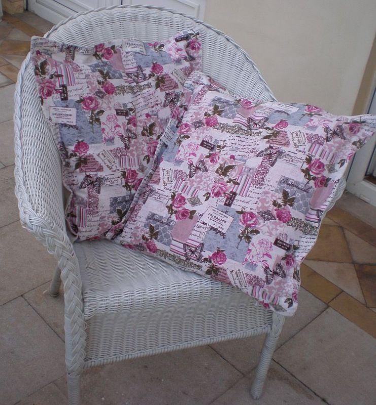 Režný povlak na polštářek - Růžičky MeeMee
