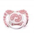 Anatomické šidítko LOVE 0-6m silikon – SUAVINEX bílý/růžový vzor