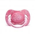 Anatomické šidítko LOVE 0-6m silikon – SUAVINEX růžový s kytkou