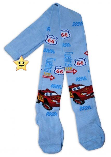 Bavlněné punčocháčky Disney Cars - sv. modré 92/98