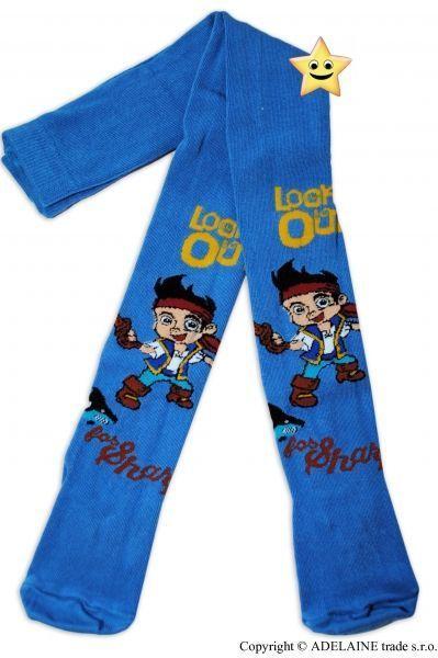 Bavlněné punčocháčky Disney Pirát - jeans 92/98