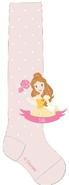 Froté punčocháčky Disney Princess - jemné růžová 80/86
