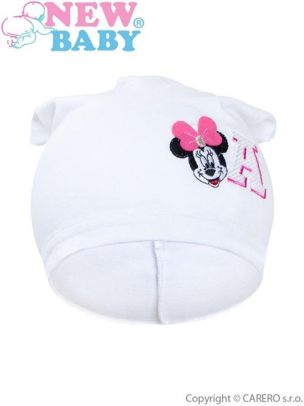 Podzimní dětská čepička New Baby Minnie bílá 110 (4-5r)