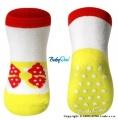 Bavlněné protiskluzové ponožky Baby Ono 0m+ - Mašlička