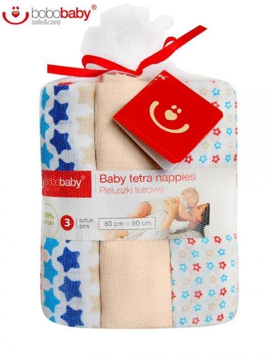 Dětské bavlněné pleny LUX BOBO BABY - Hvězdičky/béžová Baby Nellys