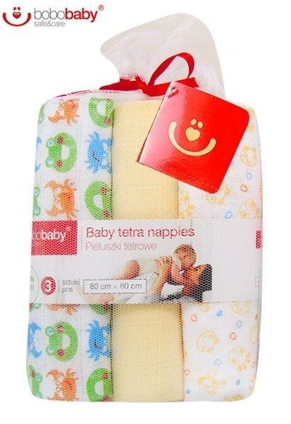 Dětské bavlněné pleny LUX BOBO BABY - Krab/žlutá Baby Nellys
