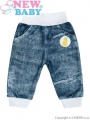 Kojenecké tepláčky New Baby Dark Jeansbaby s bílou